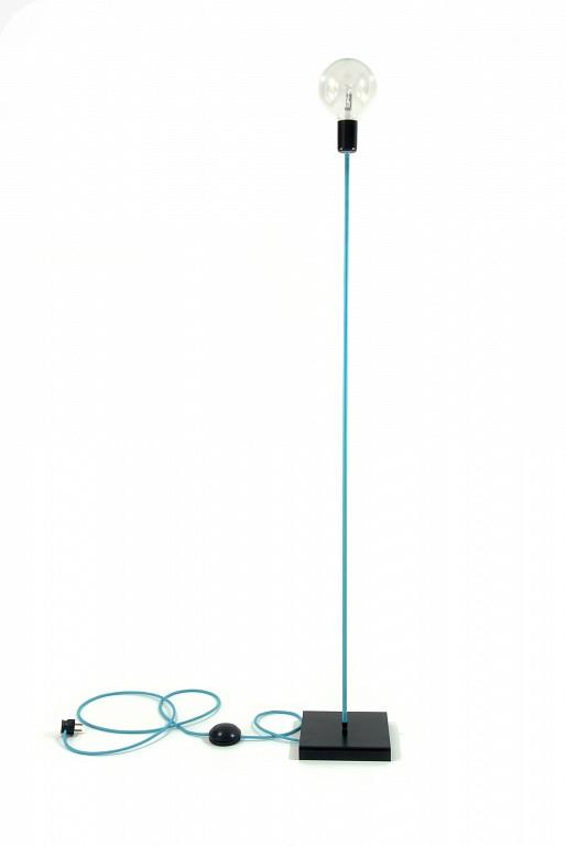 Lampy Podłogowe Nowoczesne Oświetlenie Dekoracyjne Kolorowe Kable W Oplocie Turkusowym